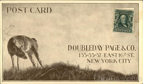 Doubleday Page & Co. New York City Advertising