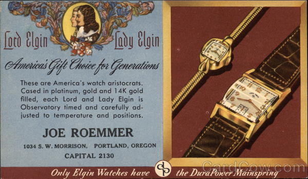 Lord Elgin, Lady Elgin - Joe Roemmer Portland Oregon