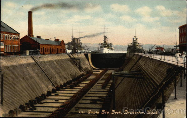Empty Dry Dock, Bremerton, Wash Boats, Ships