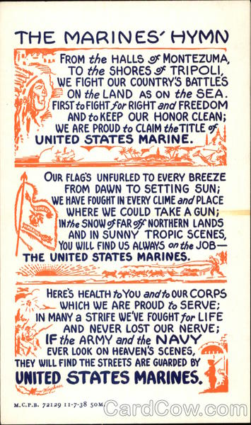 The Marines' Hymn Lyrics Songs & Lyrics
