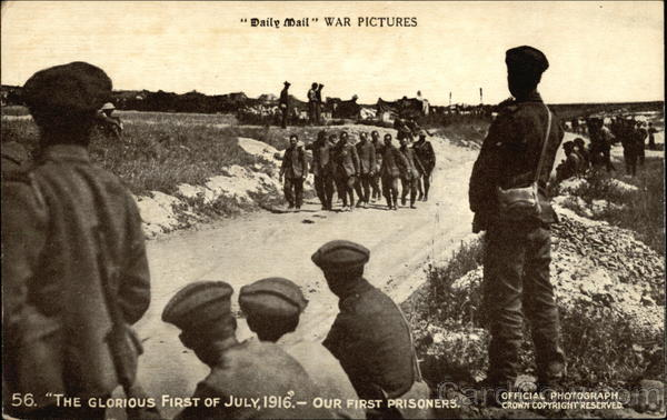 Daily Mail War Pictures, The Glorious First of July 1916, Our First Prisoners