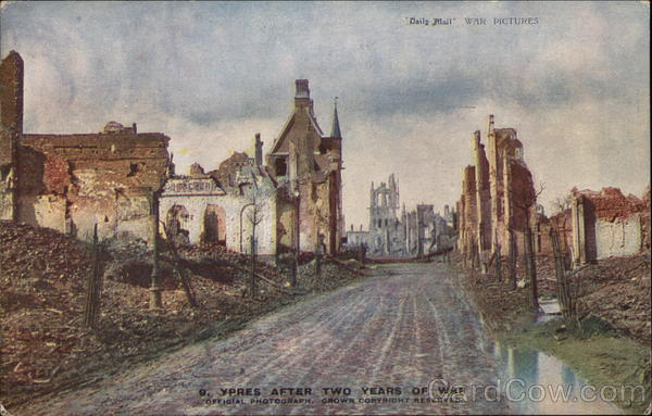 Ypres After Two Years of War Military