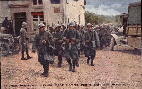 French Infantry Leaving Mort Homme for Their Rest Period
