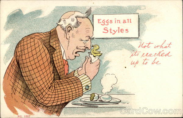 Eggs in all Styles, Not What its Cracked up to Be Comic, Funny