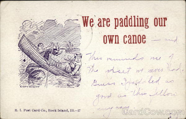 We are Paddling our own Canoe Comic, Funny