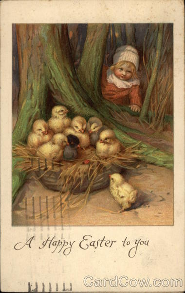 A Happy Easter to You with Child & Chicks With Chicks