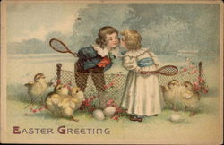 Easter Greeting with Children & Chicks