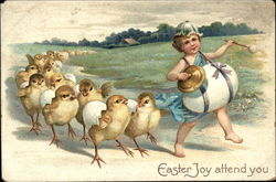 Easter Joy Attend You with Chicks & Child