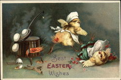 Best Easter Wishes with Chicks & Eggs