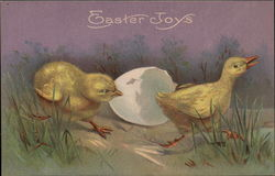 Easter Joys depicted by hatched Egg and Chicks
