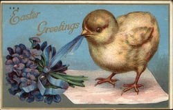 Easter Greetings with Chick & Violets