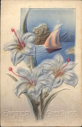 Easter Greetings with Lillies & Ship