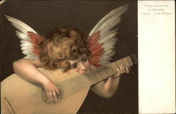 Angel Playing Stringed Instrument