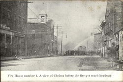 Fire House Number 1, a View of Chelsea Before the Fire Got Much Headway