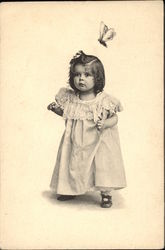 Girl Toddler with Butterfly