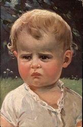 Portrait of Young Boy Crying