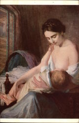 A Young Mother Nursing Infant