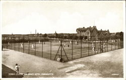 Tennis Courts and Bruce Hotel, Carnoustie