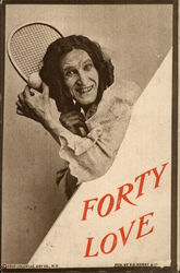 Forty Love Postcard
