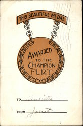 This Beautiful Medal Awarded to the Champion Flirt