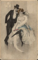 Risque Couple in Formal Attire