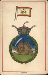 Persia Coat of Arms & Flag