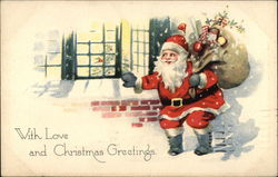 With Love and Christmas Greetings Postcard