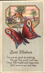 Best Wishes - Butterfly Postcard