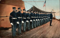 Marine Guard on board United States Warship