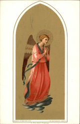 Angel in Coral Robes Praying
