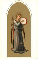 Angel in Blue with Tambourine