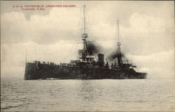 H.M.S. Invincible Armoured Cruiser Tonnage 17,250
