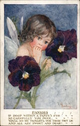 Fairy Among Pansies