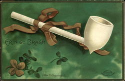 Erin Go Bragh with Pipe and Clover
