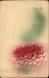 Hot Air Balloon filled with Pink Flowers
