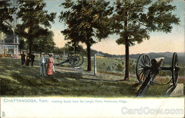 Looking South from De Long's Point, Missionary Ridge Chattanooga Tennessee