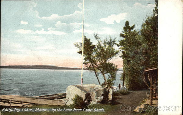 Rangeley Lakes, Maine, up the Lake From Camp Bemis