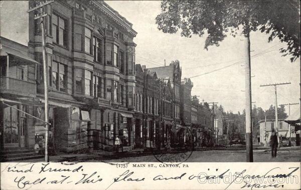 Main Street Canton Pennsylvania