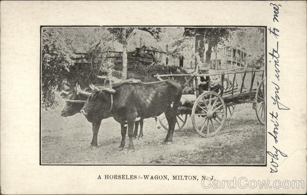 A Horseless Wagon Milton New Jersey