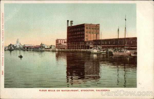 Flour mills on waterfront stockton ca for Shirt printing stockton ca