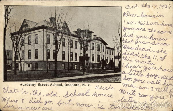 Academy Street School Oneonta New York