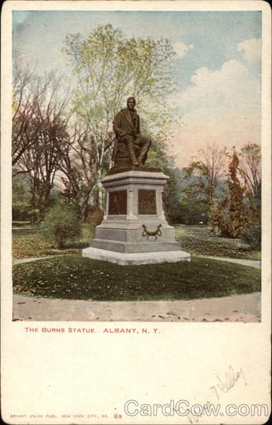 The Burns Statue Albany New York