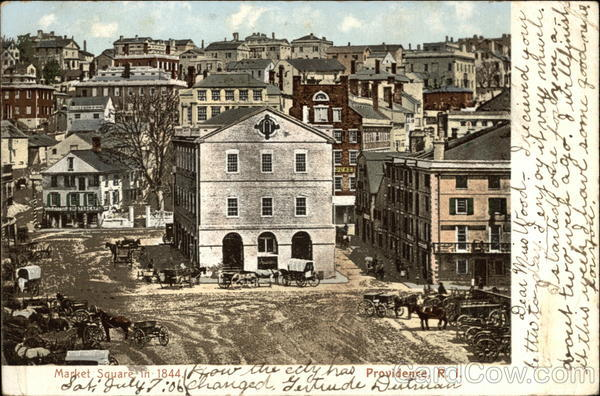 Market Square in 1844 Providence Rhode Island