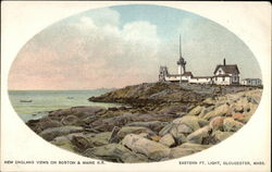 New England views on Boston & Maine RR, Eastern Pt. Light