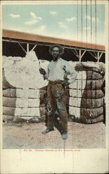 Man with Cotton Bales