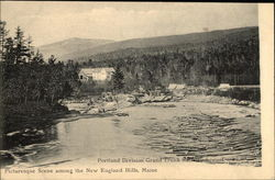 Portland Division Grand Trunk Railway System, Picturesque Scene Among the New England Hills