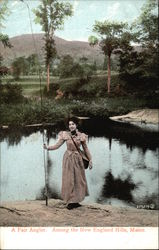 A Fair Angler Among the New England Hills