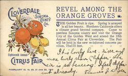 Cloverdale Sonoma County Cal. Eighteenth Annual Citrus Fair, Feb. 18, 19, 20, 21 and 22, 1910