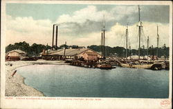 Oyster Schooners Unloading at Canning Factory