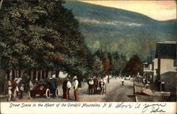 Street Scene in the Heart of the Catskill Mountains NY